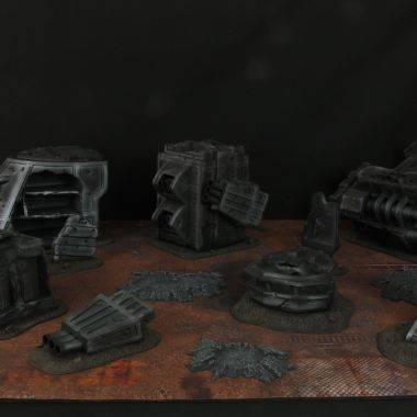 Strike Cruiser Craters - WargameTerrainFactory - Miniatures War Game Terrain & Scenery