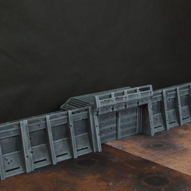 Apocalypse Fortress Walls - WargameTerrainFactory - Miniatures War Game Terrain & Scenery