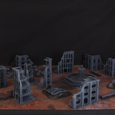 Large Fallout Zone Cityfight - WargameTerrainFactory - Miniatures War Game Terrain & Scenery