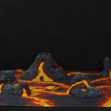 Volcanic Terrain Set - WargameTerrainFactory - Miniatures War Game Terrain & Scenery