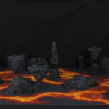 Hell Terrain Set - WargameTerrainFactory - Miniatures War Game Terrain & Scenery