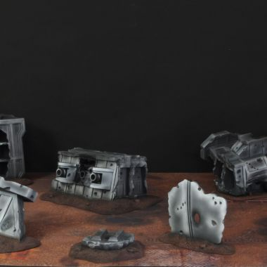 Crashed Strike Cruiser Set - WargameTerrainFactory - Miniatures War Game Terrain & Scenery
