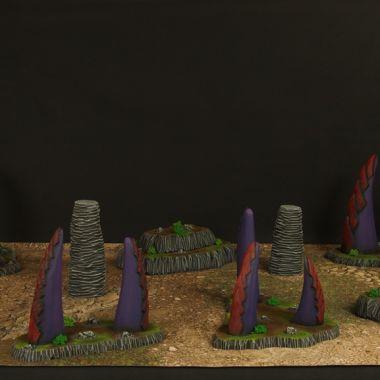 Alien Terrain Set Red - WargameTerrainFactory - Miniatures War Game Terrain & Scenery