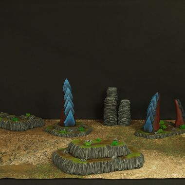 Alien Terrain Set Blue - WargameTerrainFactory - Miniatures War Game Terrain & Scenery