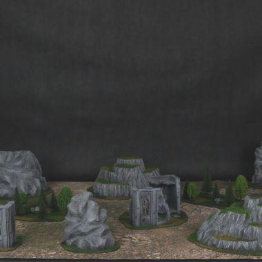 Classic Terrain Set - WargameTerrainFactory - Miniatures War Game Terrain & Scenery
