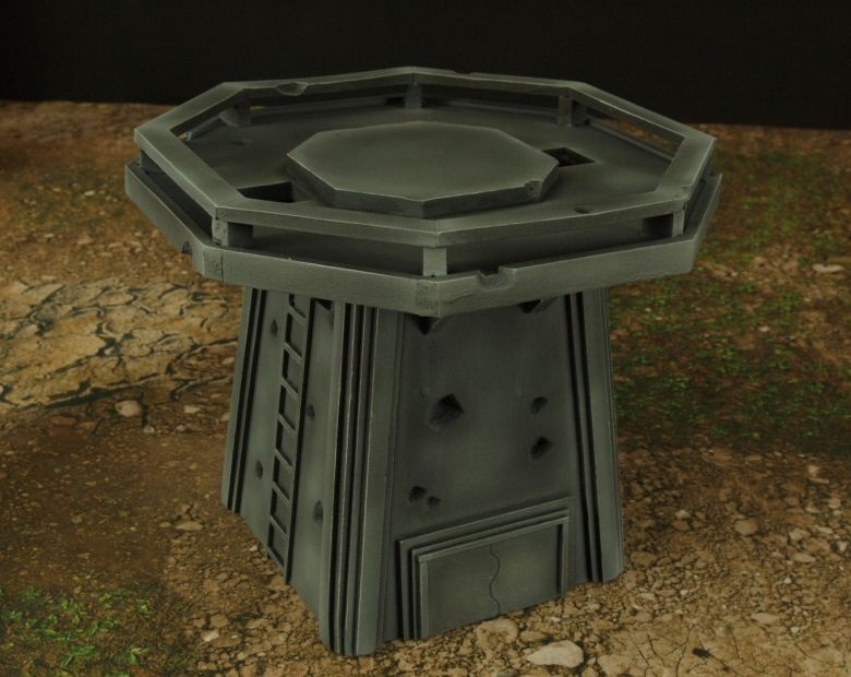 Warhamme 40k terrain orbital gun emplacement fortress tower turret 10