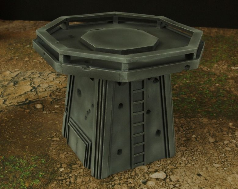 Warhamme 40k terrain orbital gun emplacement fortress tower turret 11