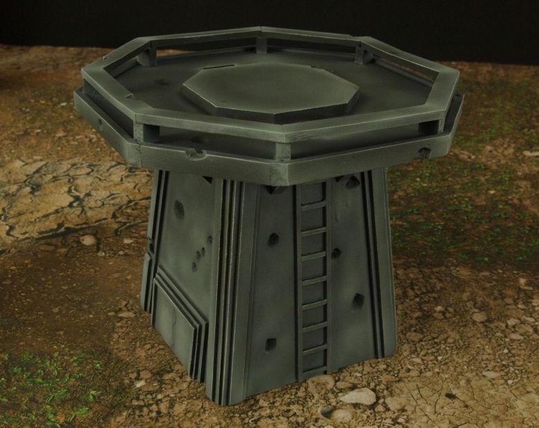Warhamme 40k terrain orbital gun emplacement fortress tower turret 11