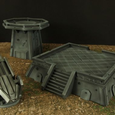 Anti orbital gun - WargameTerrainFactory - Miniatures War Game Terrain & Scenery