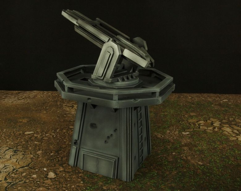 Warhamme 40k terrain orbital gun emplacement fortress tower turret 13