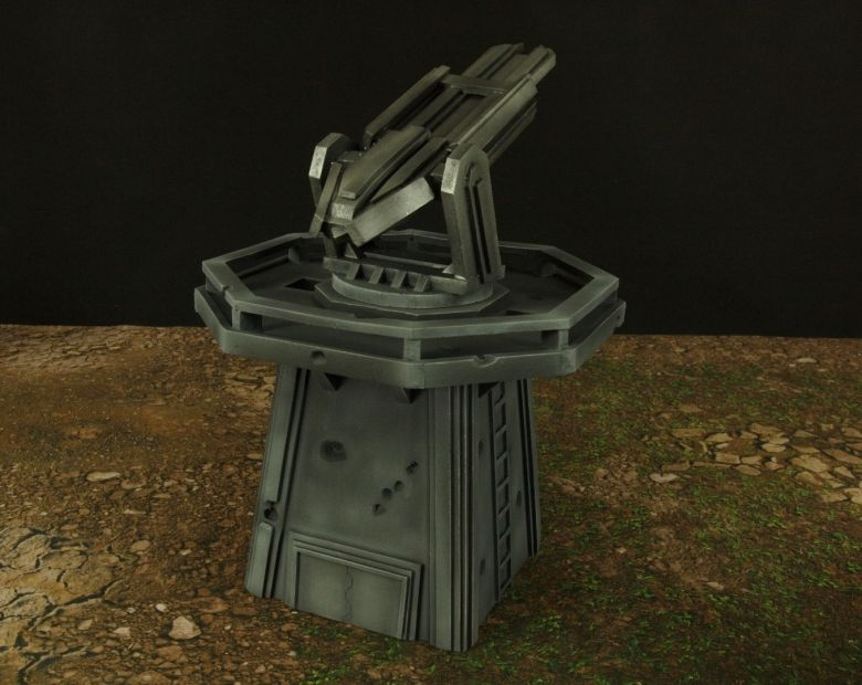 Warhamme 40k terrain orbital gun emplacement fortress tower turret 14