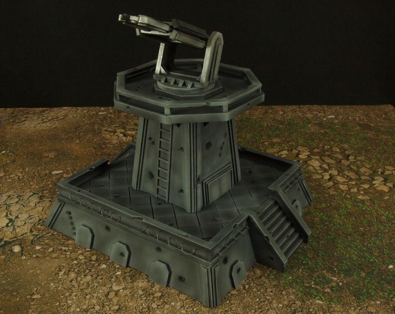 Warhamme 40k terrain orbital gun emplacement fortress tower turret 2 1