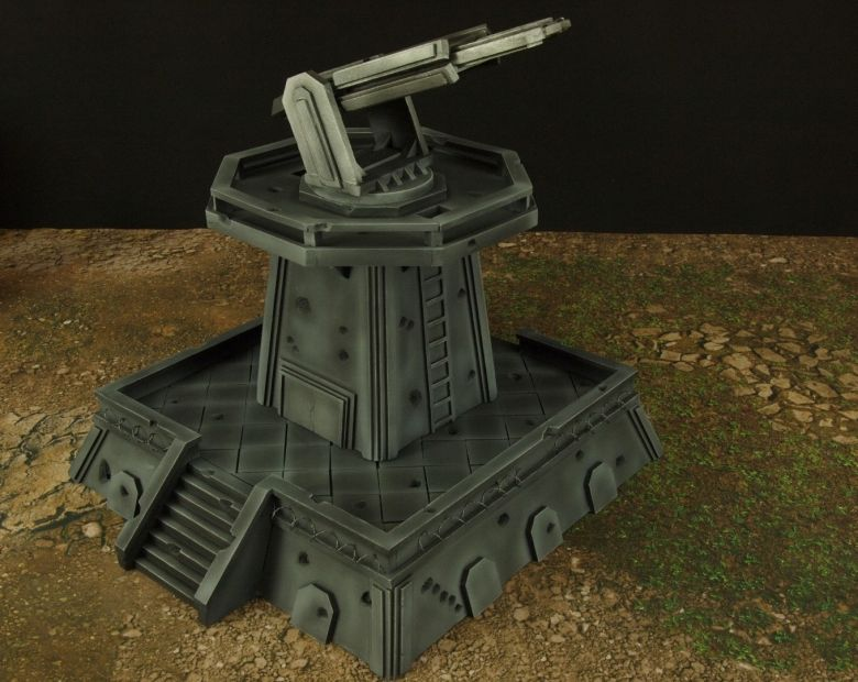Warhamme 40k terrain orbital gun emplacement fortress tower turret 3