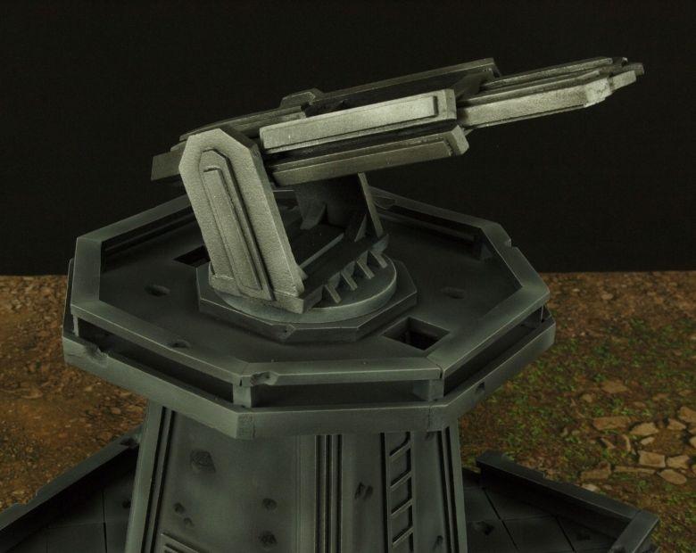 Warhamme 40k terrain orbital gun emplacement fortress tower turret 4 1