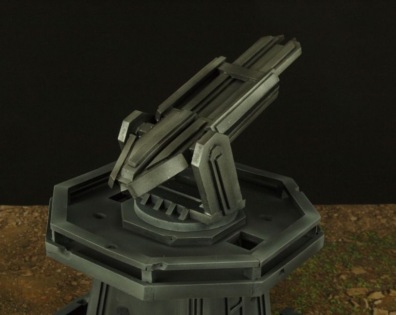 Warhamme 40k terrain orbital gun emplacement fortress tower turret 5