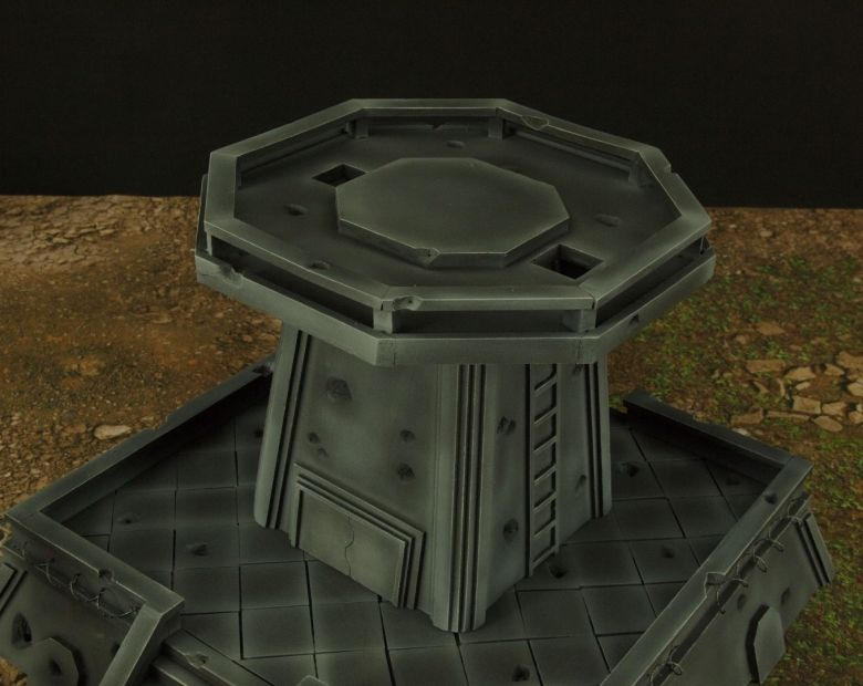 Warhamme 40k terrain orbital gun emplacement fortress tower turret 7 1