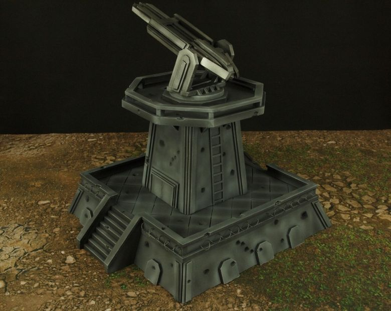 Warhamme 40k terrain orbital gun emplacement fortress tower turret