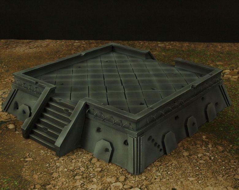 Warhamme 40k terrain orbital gun emplacement fortress tower turret 8