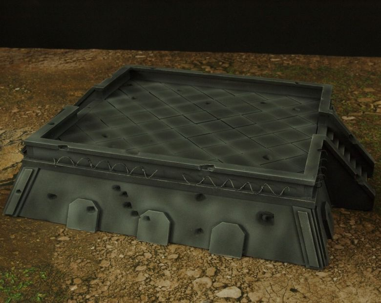 Warhamme 40k terrain orbital gun emplacement fortress tower turret 9