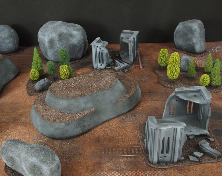 Warhammer 40k classic terrain hills 2