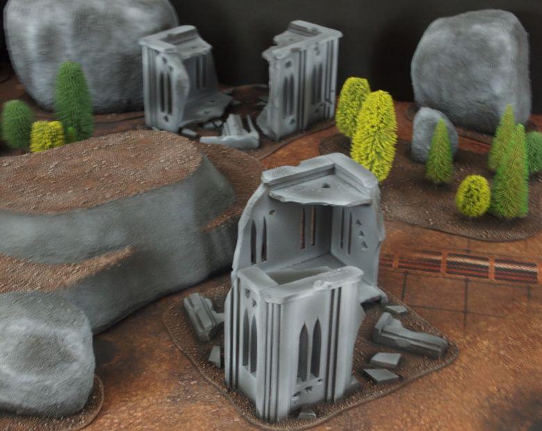 Warhammer 40k classic terrain rocks 1