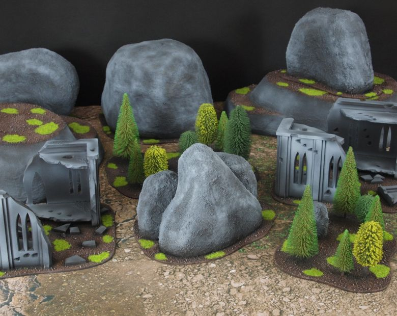 Warhammer 40k classic terrain rocks 2 1