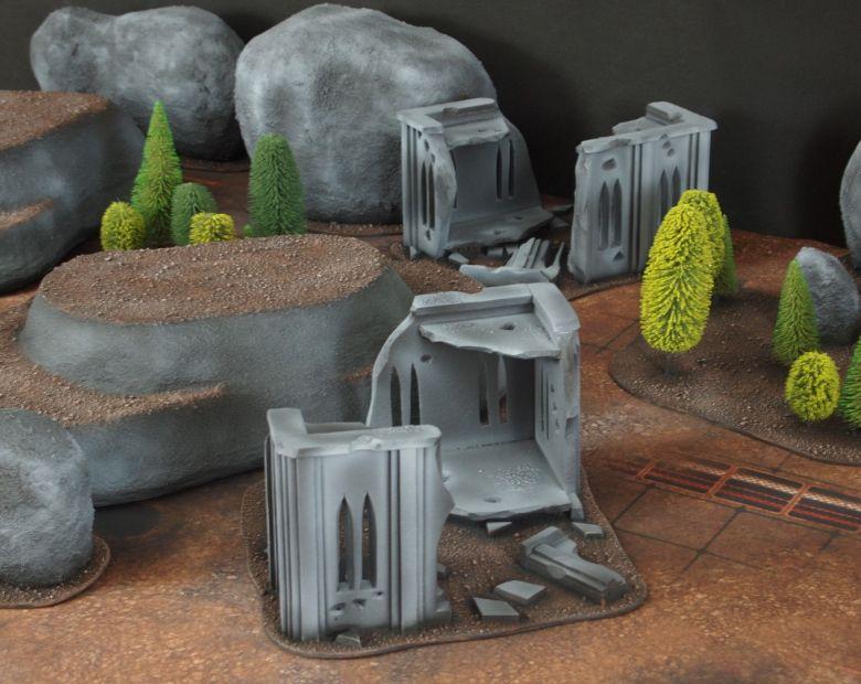 Warhammer 40k classic terrain rocks 2