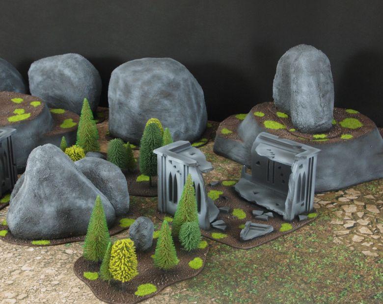 Warhammer 40k classic terrain rocks 3 1