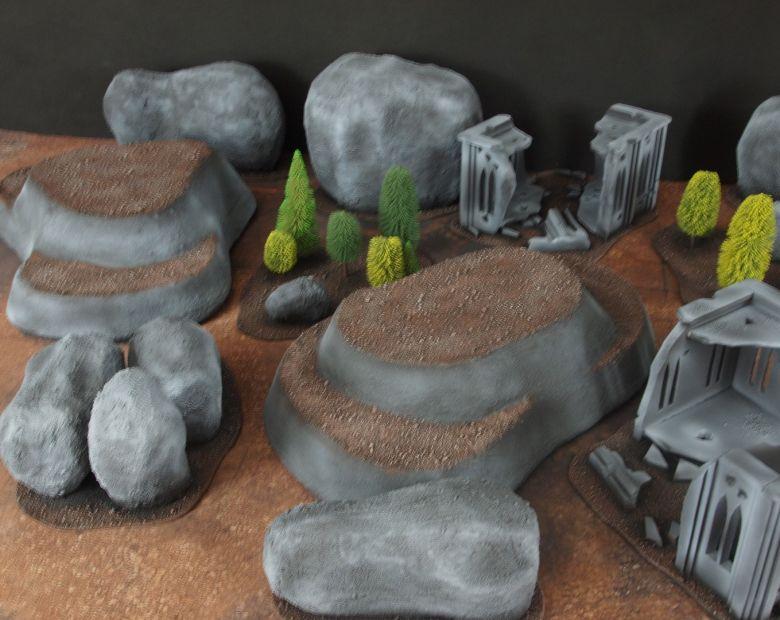 Warhammer 40k classic terrain rocks 3