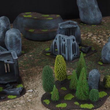 Classic terrain set 1 - WargameTerrainFactory - Miniatures War Game Terrain & Scenery