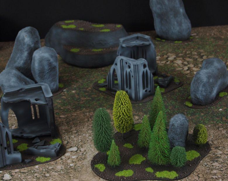Warhammer 40k classic terrain set forest