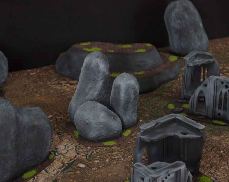 Warhammer 40k classic terrain set rocks 1