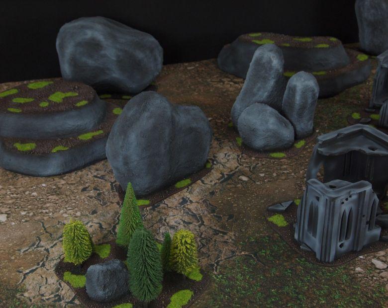 Warhammer 40k classic terrain set rocks