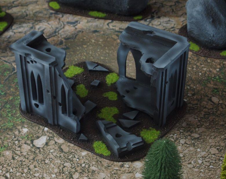 Warhammer 40k classic terrain set ruins 1