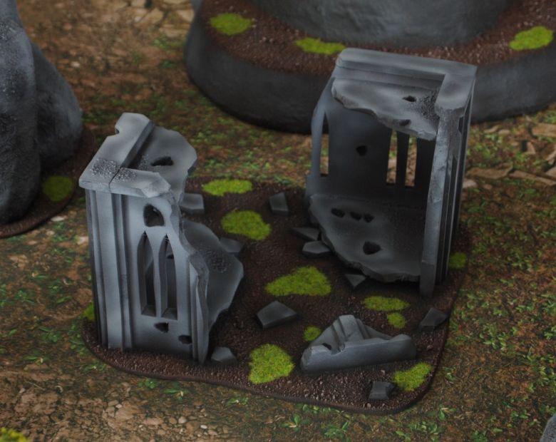 Warhammer 40k classic terrain set ruins 2