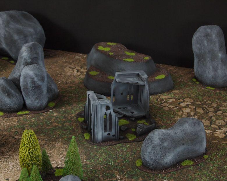 Warhammer 40k classic terrain set ruins