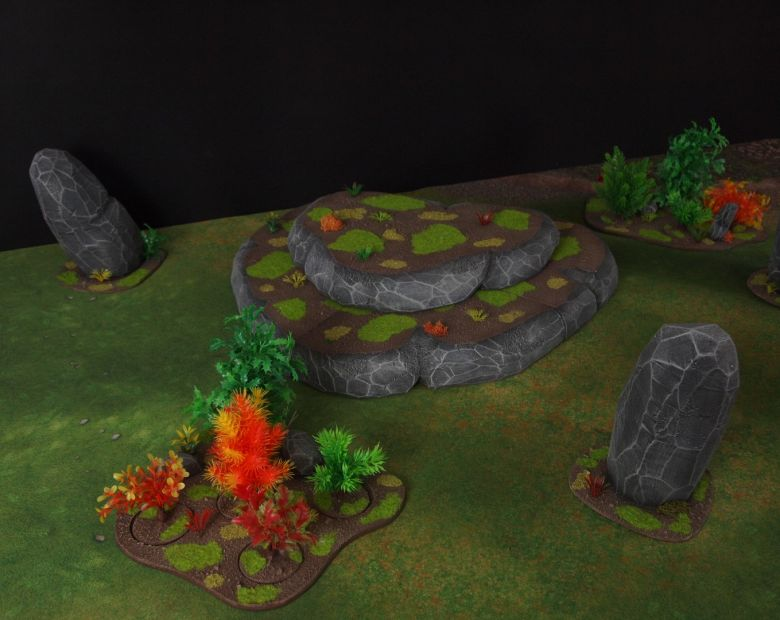 Warhammer 40k jungle terrain set 4