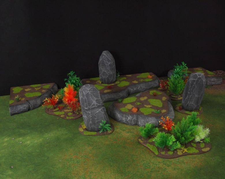 Warhammer 40k jungle terrain set 6