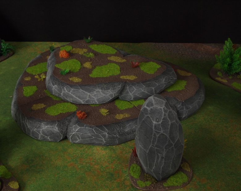 Warhammer 40k jungle terrain set hill 1