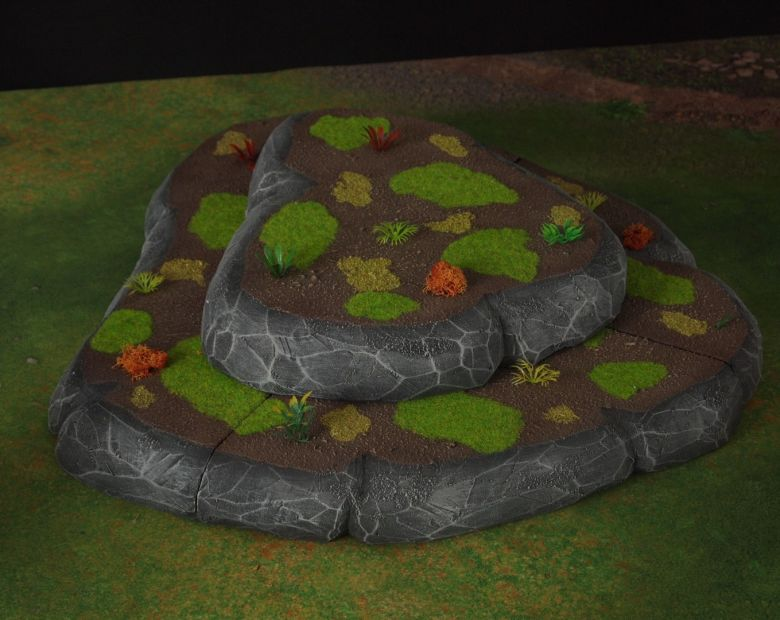 Warhammer 40k jungle terrain set hill 2