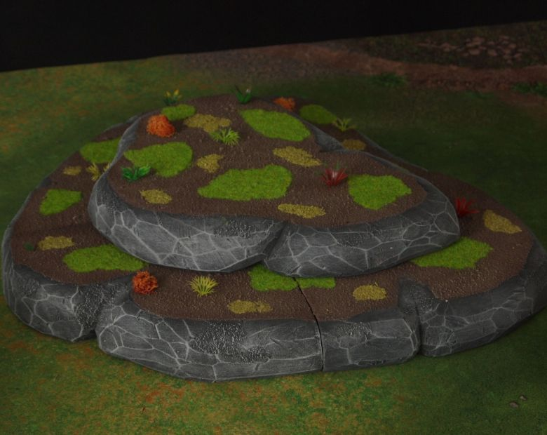 Warhammer 40k jungle terrain set hill 3