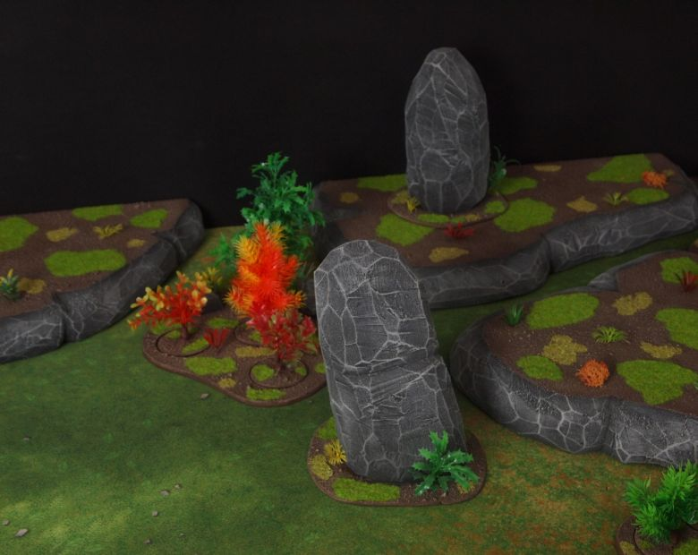 Warhammer 40k jungle terrain set rocks hill