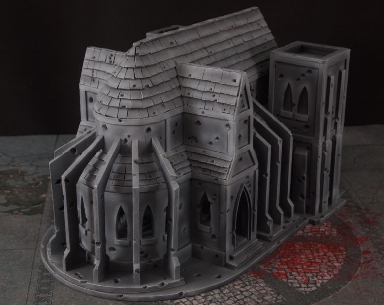 Warhammer 40k terrain cathedral back