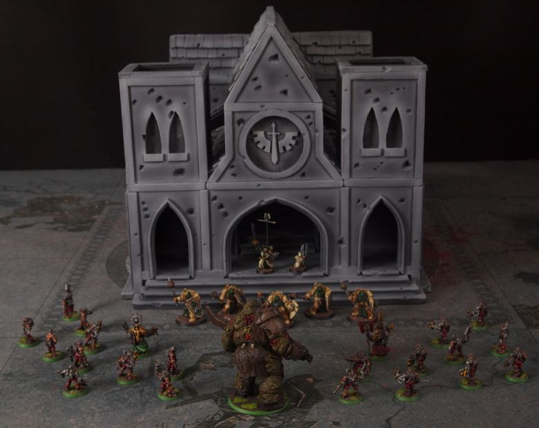 Warhammer 40k terrain cathedral deathwing chaos 4