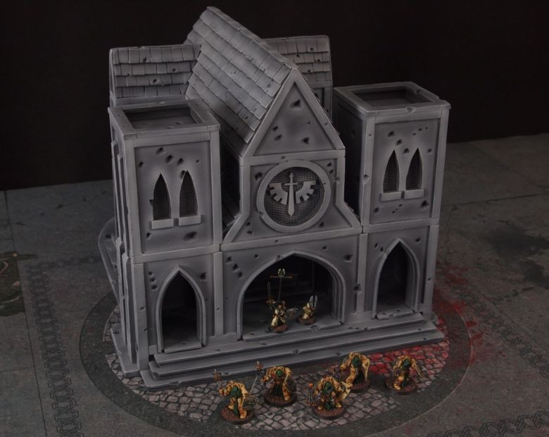 Warhammer 40k terrain cathedral deathwing chaos 5