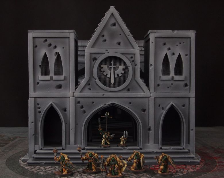 Warhammer 40k terrain cathedral deathwing chaos 6