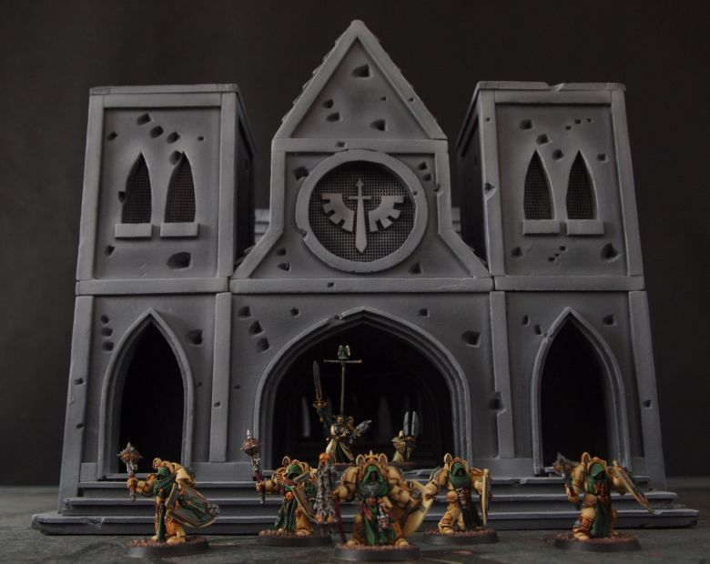 Warhammer 40k terrain cathedral deathwing chaos 7