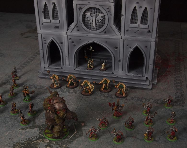 Warhammer 40k terrain cathedral deathwing chaos 9