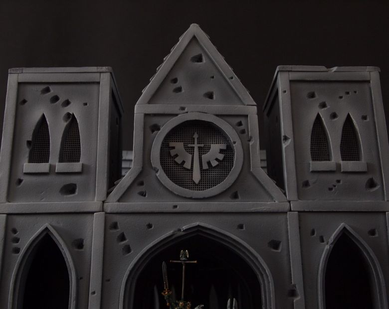 Warhammer 40k terrain cathedral deathwing chaos front 1