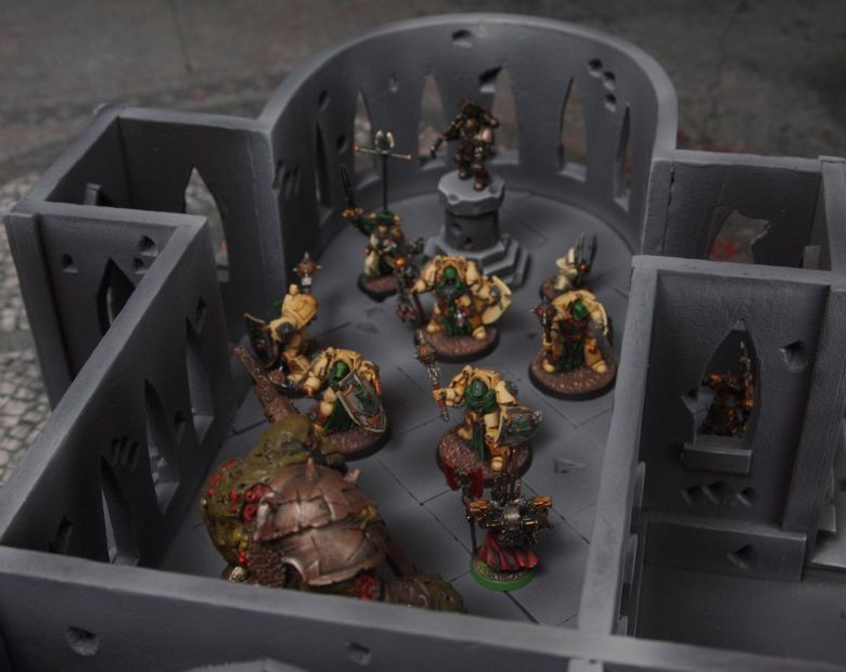 Warhammer 40k terrain cathedral deathwing chaos interior 1